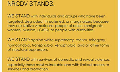 We Stand statement