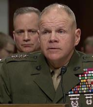 Marine commander addressing congressional committee