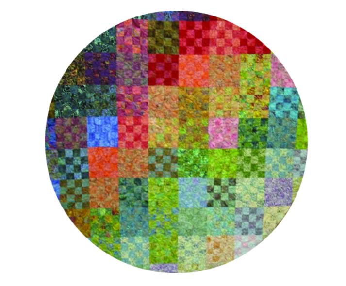 round colorful quilt