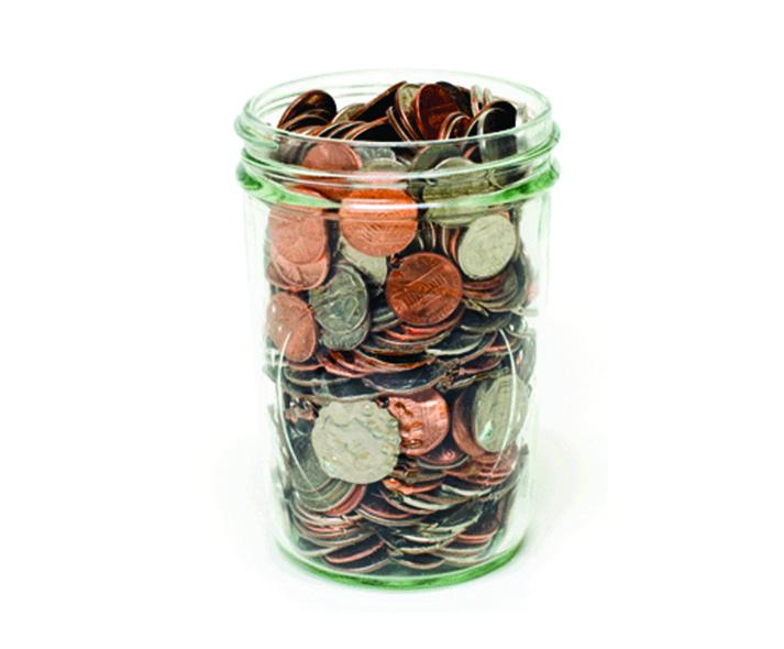 full money jar