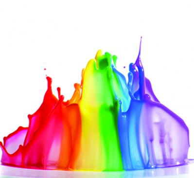 splash of rainbow paint
