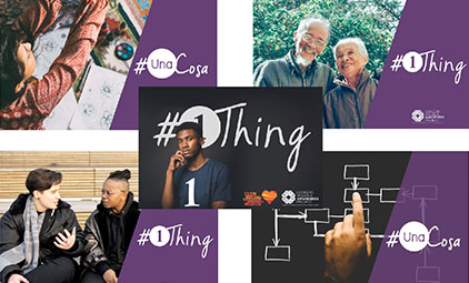 photos of people and the #1Thing logo