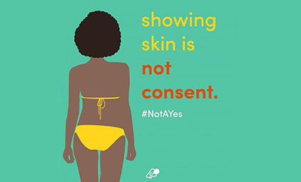 showing skin is not consent
