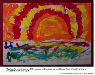 child painting of a sun