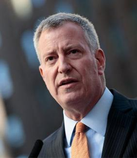 City Mayor Bill de Blasio