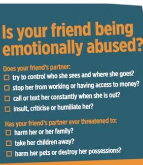 Is your friend being emotionally abused?