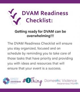 DVAM Readiness Checklist: Getting ready for DVAM can be overwhelming!!