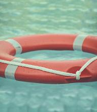 life preserver floating in the water