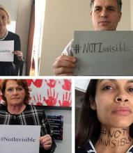 celebrities and public figures who have joined the #NotInvisible movement