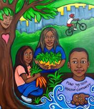 Plant the Seeds of a Healthy Community mural