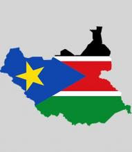 map and flag of South Sudan