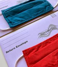 mail-in ballots and masks