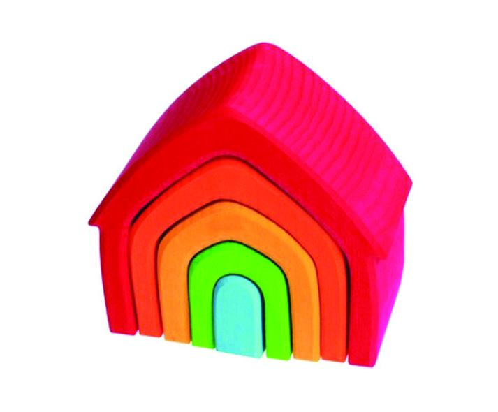 colorful blocks in the shape of a house