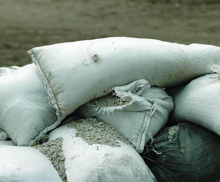sand bags to prepare for flood