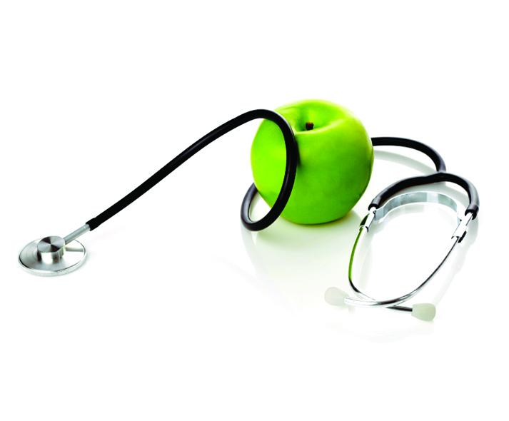 stethoscope with apple