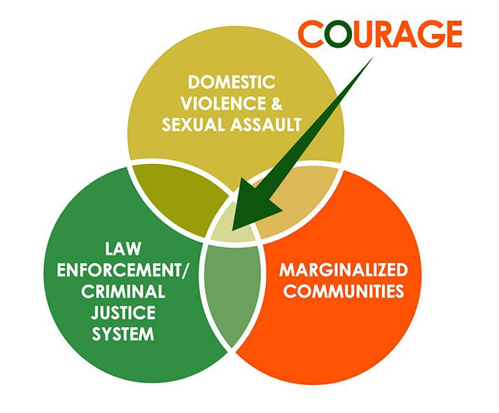COURAGE venn diagram